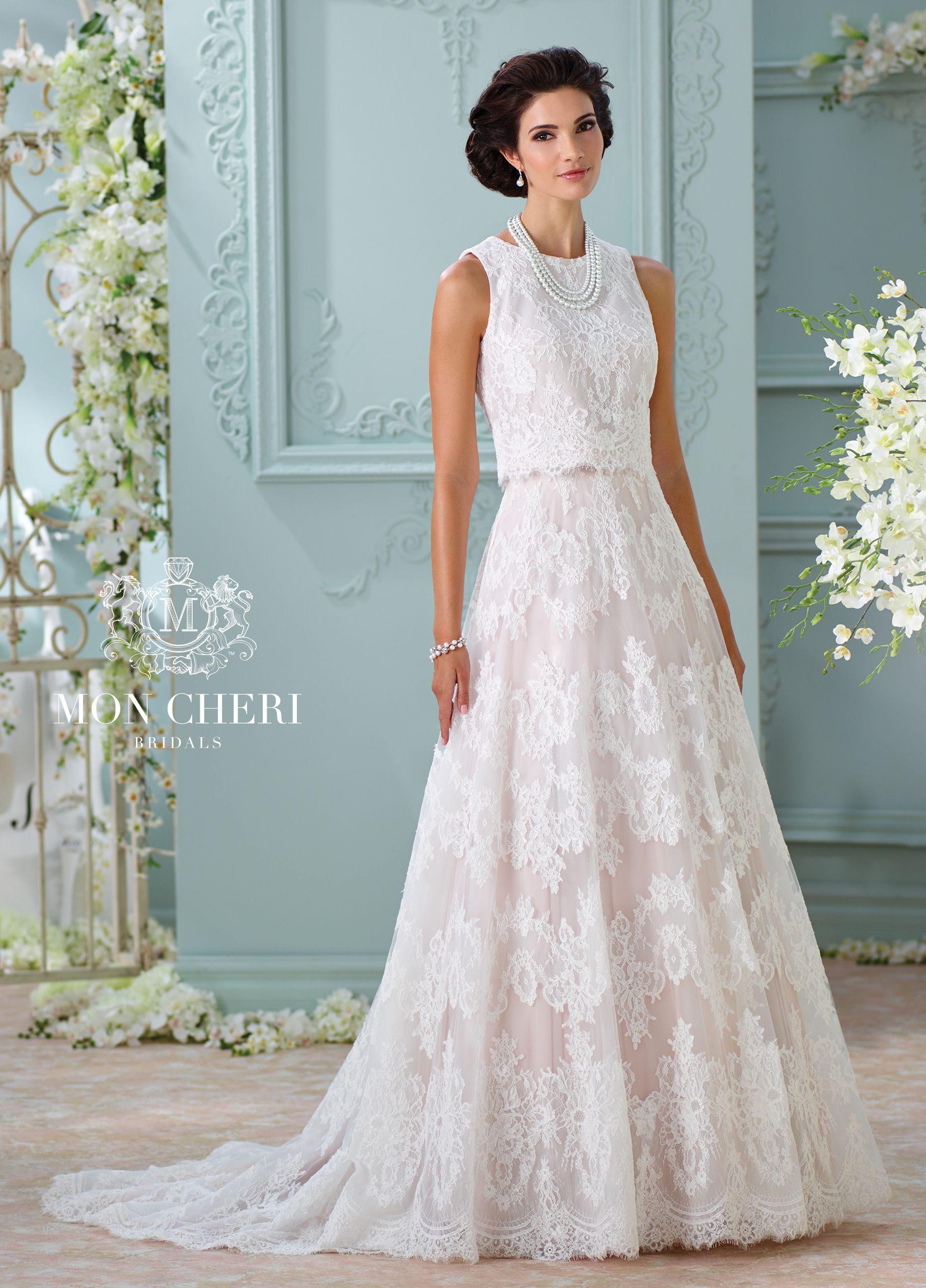 Two-Piece Sleeveless Lace Wedding Dress- 116209 Rhyah ...