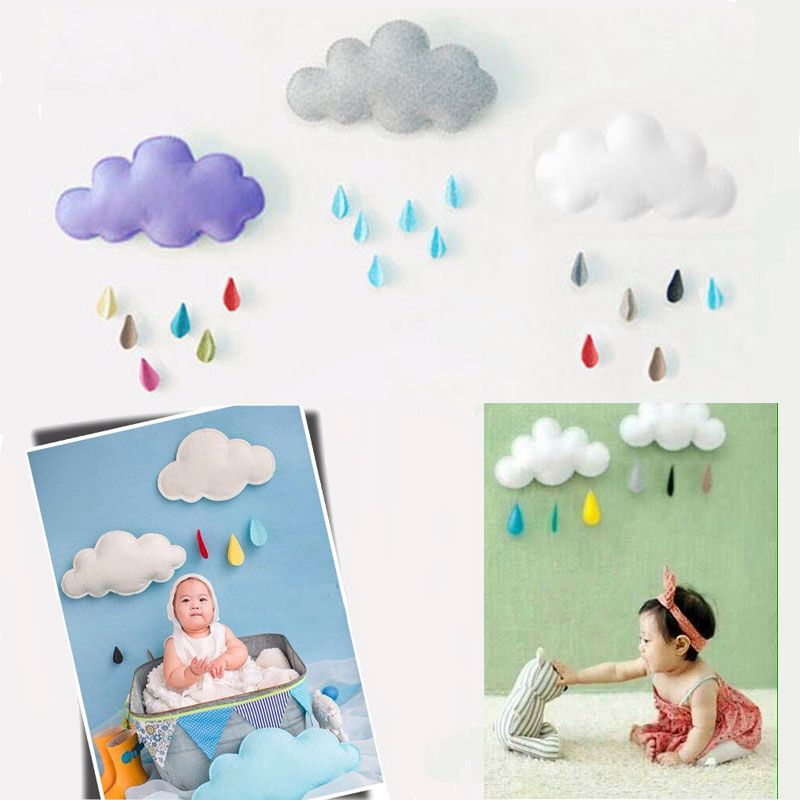 2016 Accessories Photographie Baby Lovely Newborn Photography Props Clouds Raindrop Style Fotografie Achtergronden Baby Costume