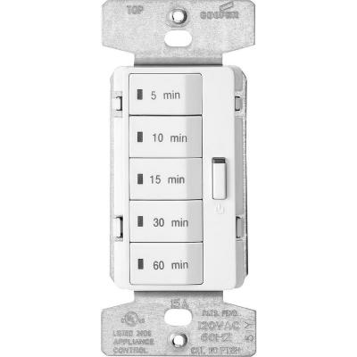 Eaton 1 800 Watt 15 Amp 125 Volt 5 Button Minute Timer White Pt18m W K The Home Depot Timer Eaton Countdown Timer