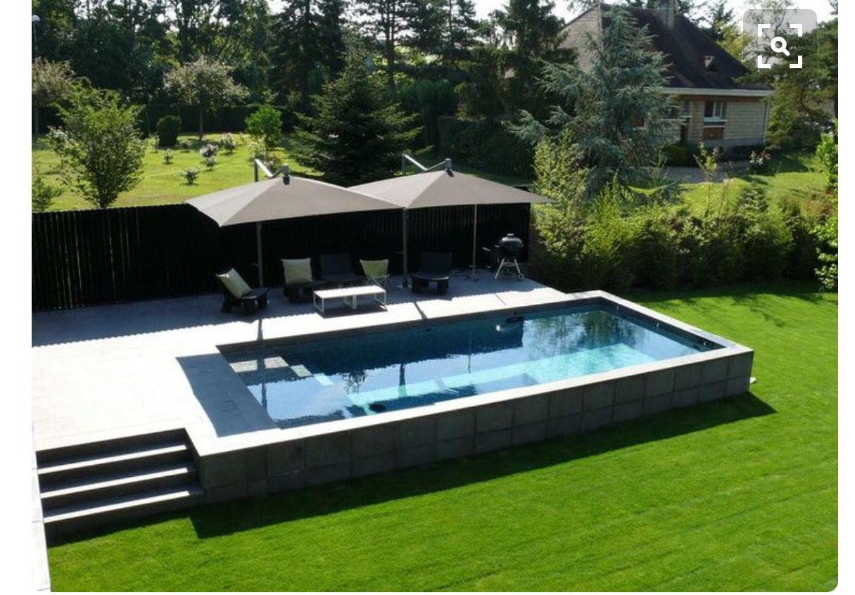 Raised Pool Backyard Pool Modern Pools Raised Pools