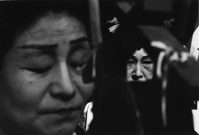 """Street entertainers from the series """"Chindon"""", Tokyo, 1961 by Shomei Tomatsu"""