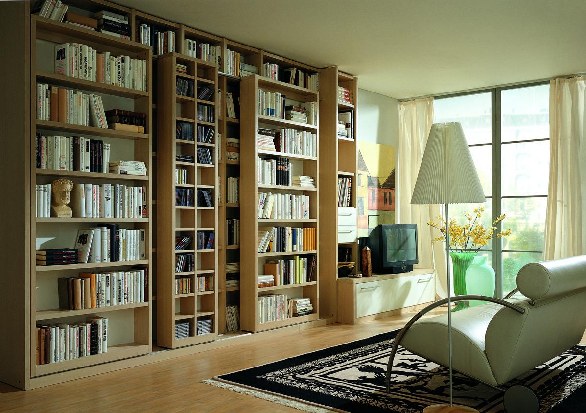 Bibliothek wohnzimmer ~ Paschen bibliothek möbel einrichtungs inspirati