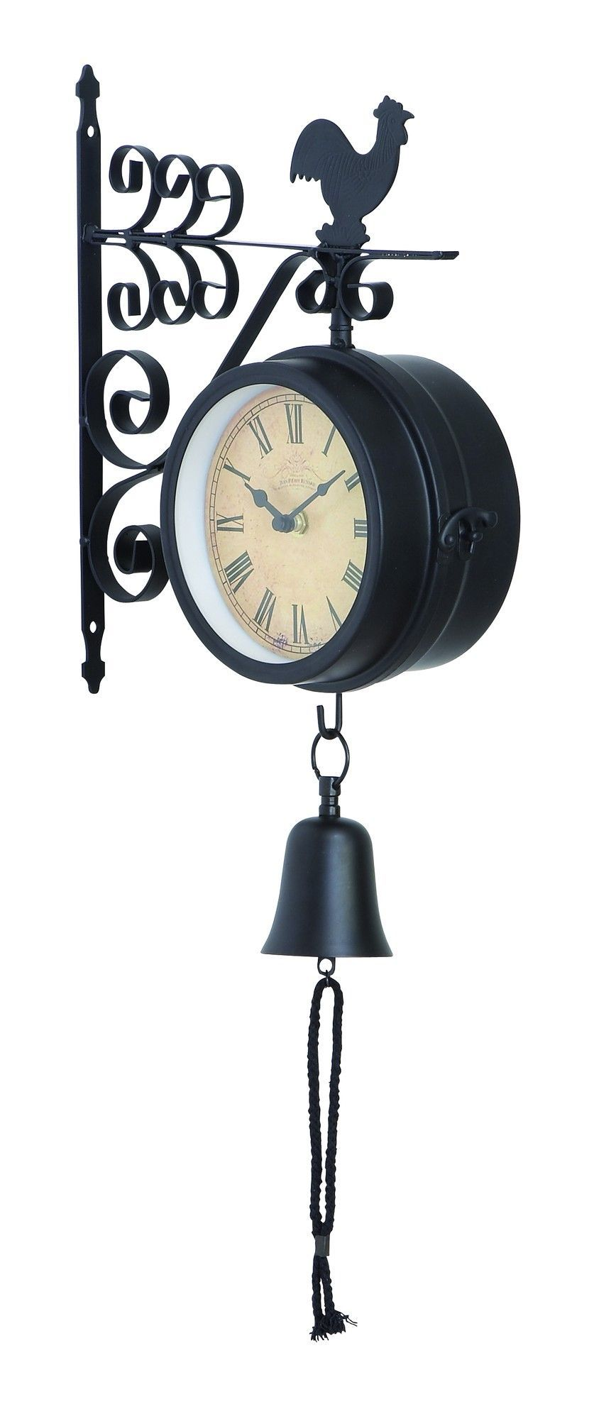 Easy To Mount Metal Outdoor Double Wall Clock