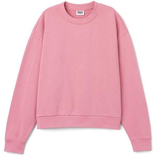 90ebad33124 Huge Cropped Sweatshirt ❤ liked on Polyvore featuring tops, hoodies,  sweatshirts, long sleeve