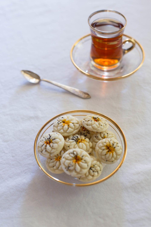 Persian rice cookies nane berenji zozo rice cookies