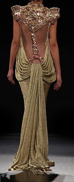 Modern Goddess Gown - back view