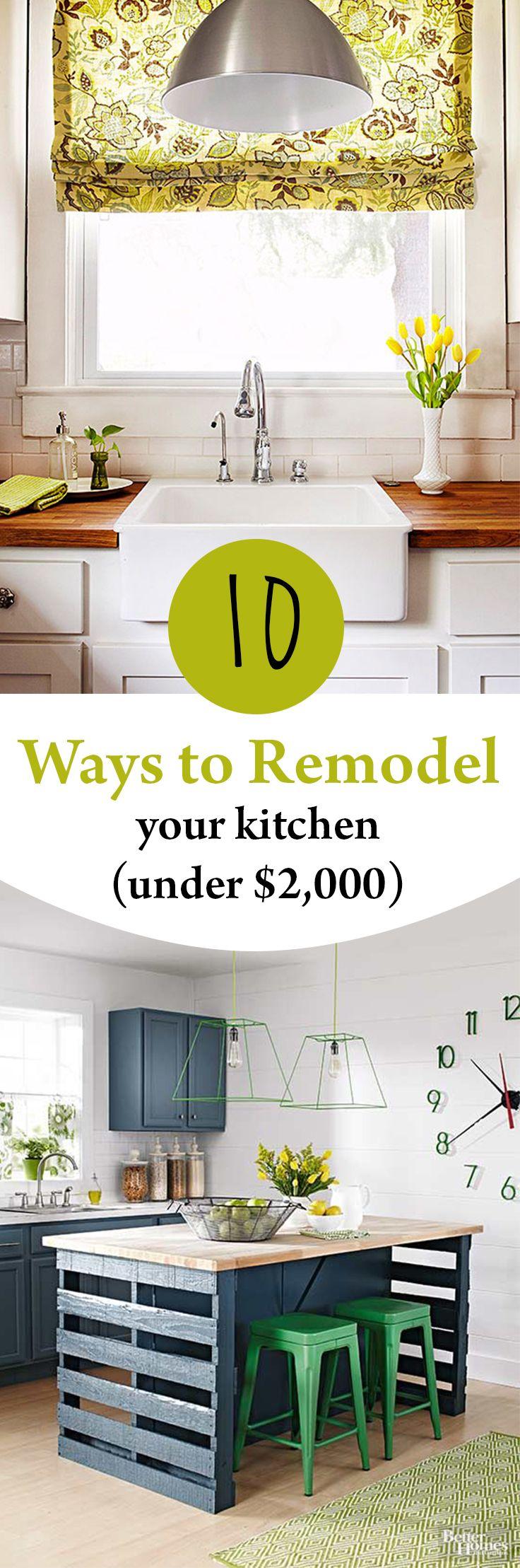 10 Ways to Remodel Your Kitchen (Under $2,000) | Holz und Wohnen