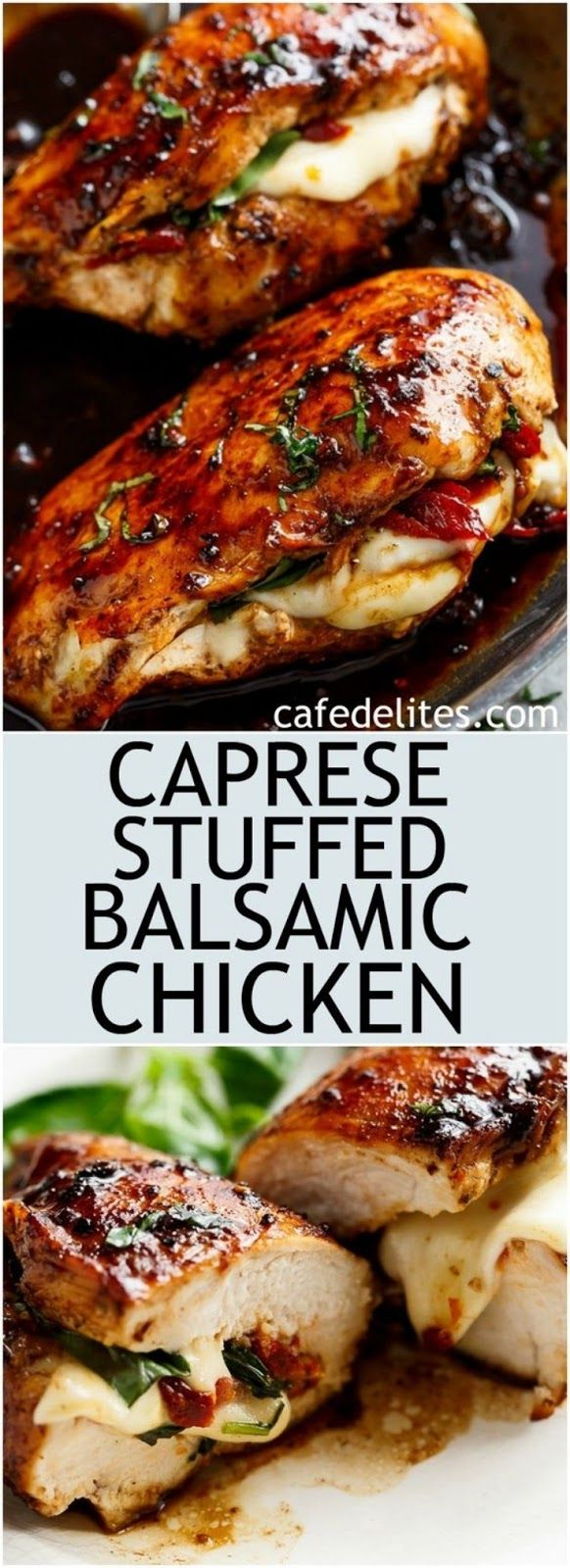 Caprese Stuffed Balsamic Chicken images