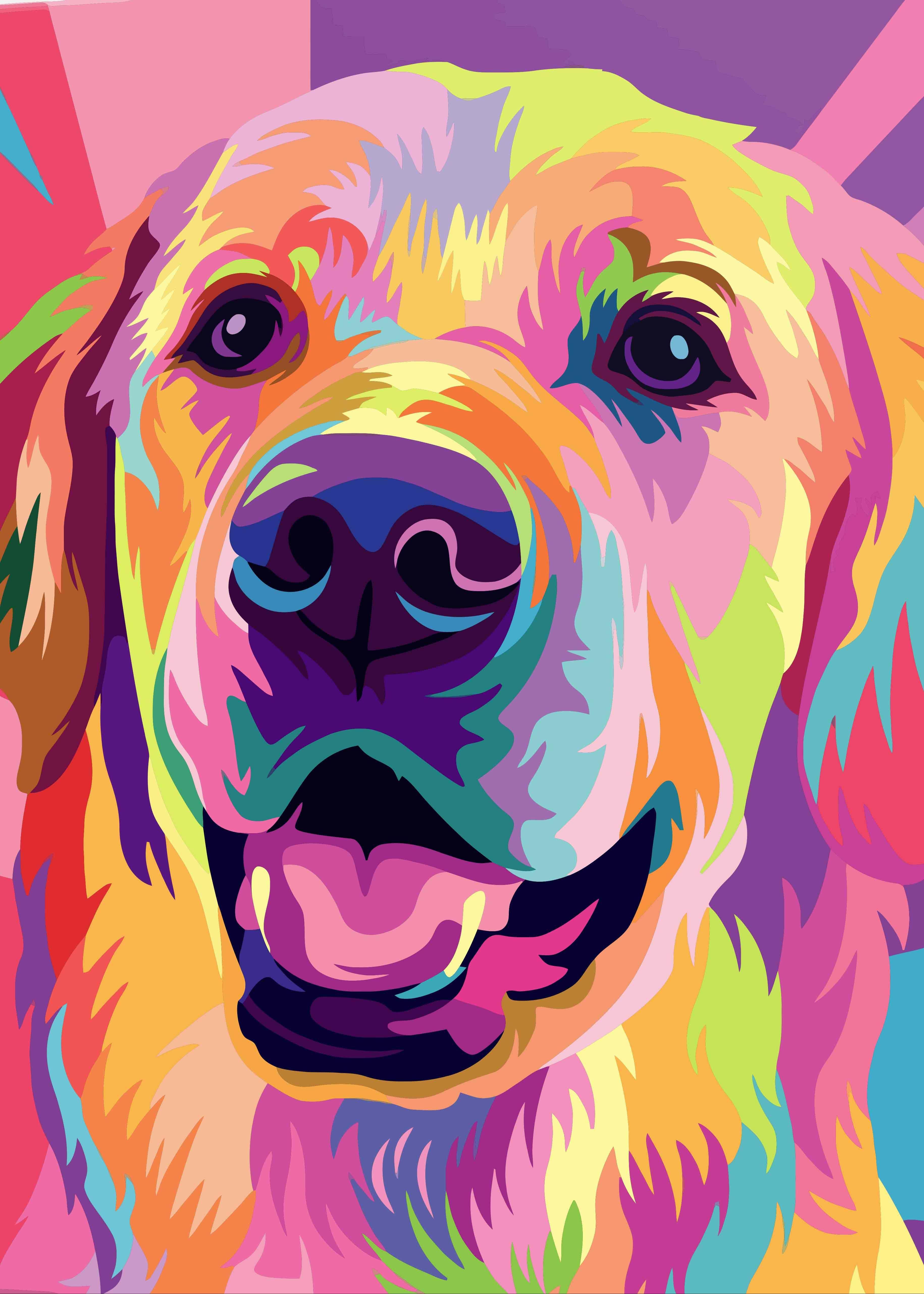 Golden Retriever Art Golden Retriever Dog art art retriever print print dog print dog dog wall art retriever art dog lover retriever paintin