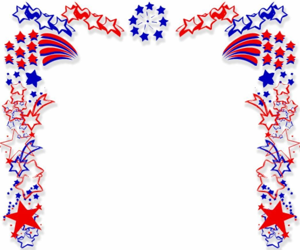 4th of July Clipart frames digital frame clipart clip art Independence day digital border PNG  Stars and Stripes Patriotic