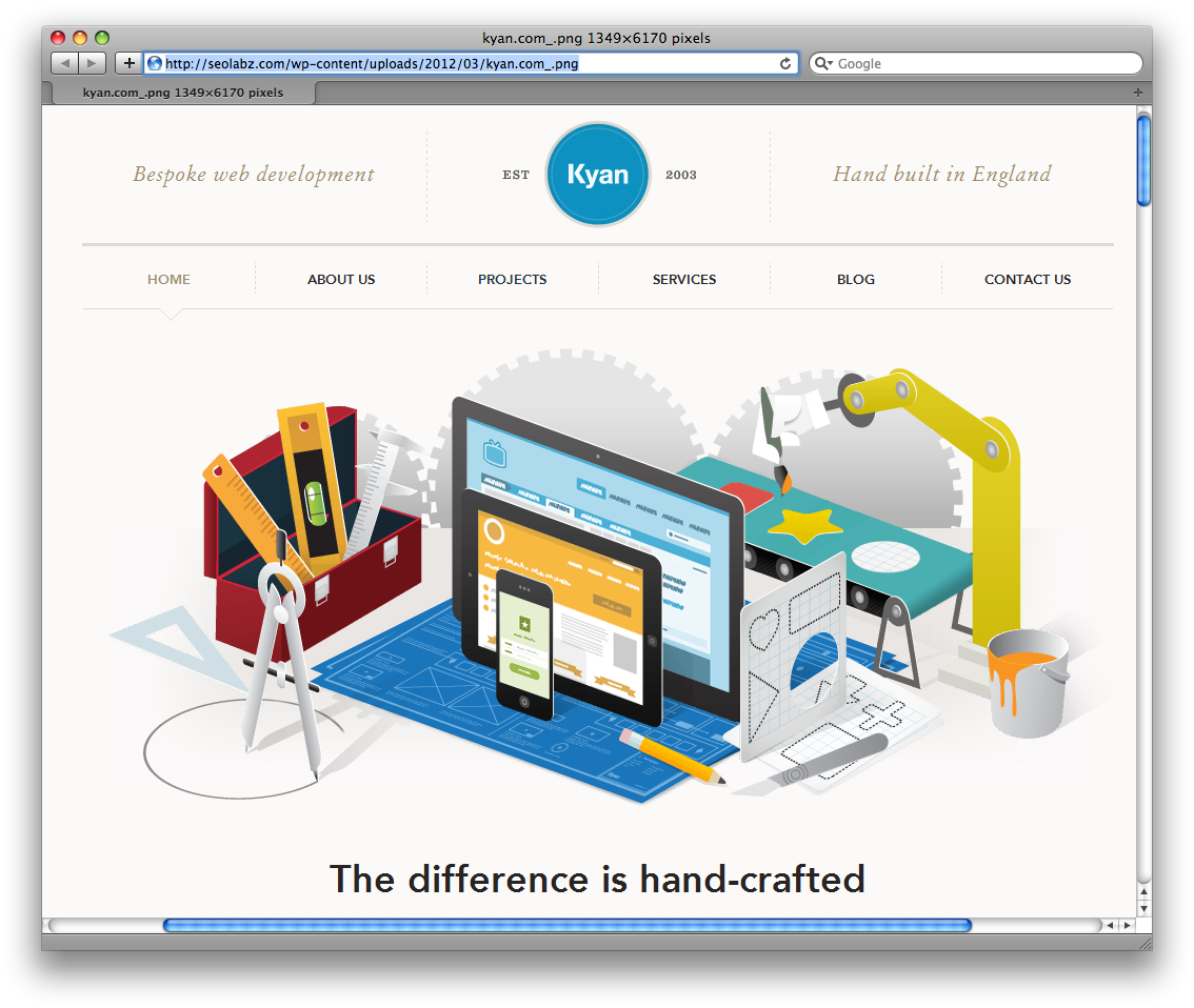 Http Seolabz Com Wp Content Uploads 2012 03 Kyan Com Png Web Design Examples Web Design Company Best Web Design
