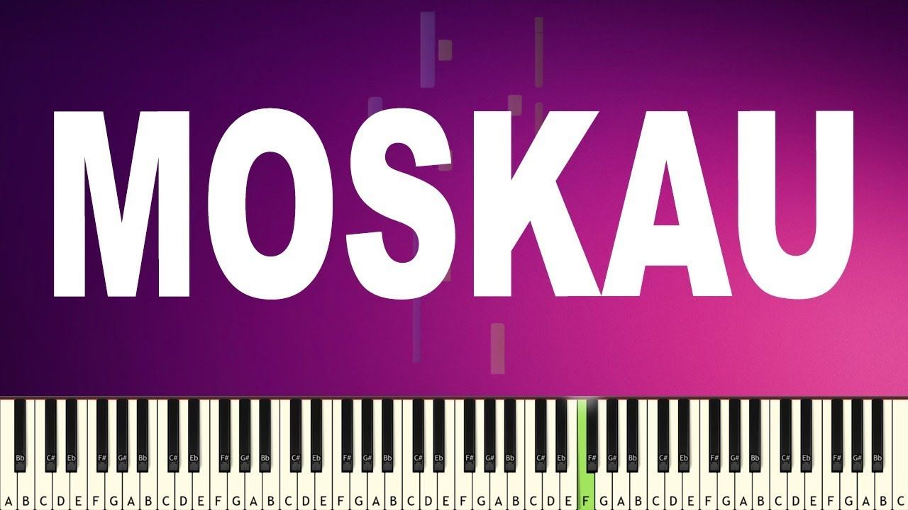 Dschinghis Khan Moskau Meme Easy Piano Tutorial Piano Tutorial Easy Piano Piano Tutorials