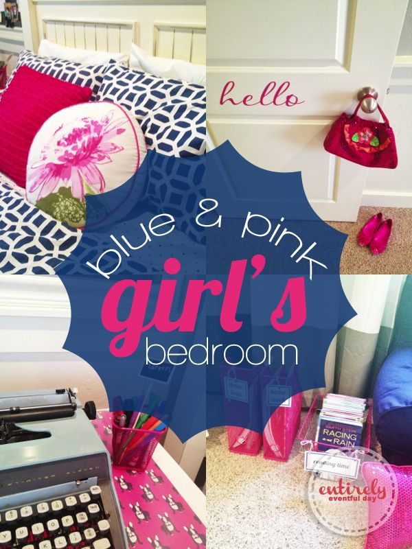 I am in love with this pink an blue bedroom for a girl! So ...