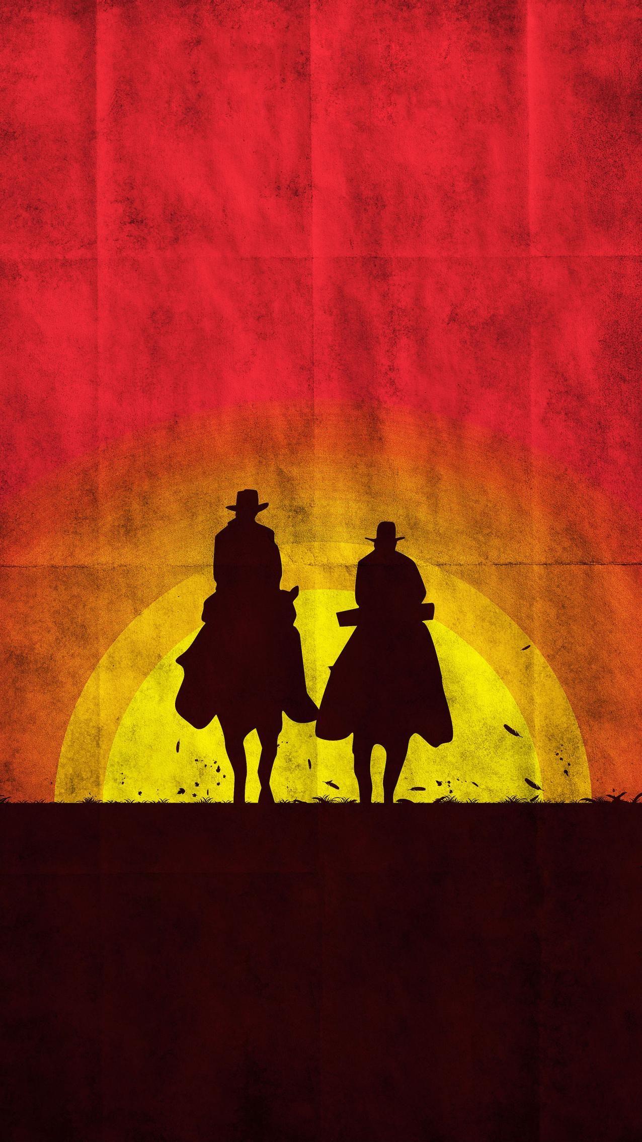 Red Dead Redemption 2 Livre : redemption, livre, Django, Unchained, (2012), Phone, Wallpaper, Moviemania, Movie, Posters, Minimalist,, Redemption, Artwork,