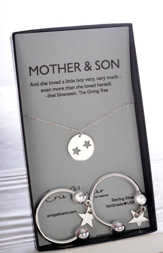 Mutter Sohn Schmuck Und Star Halskette Des Mother Of The