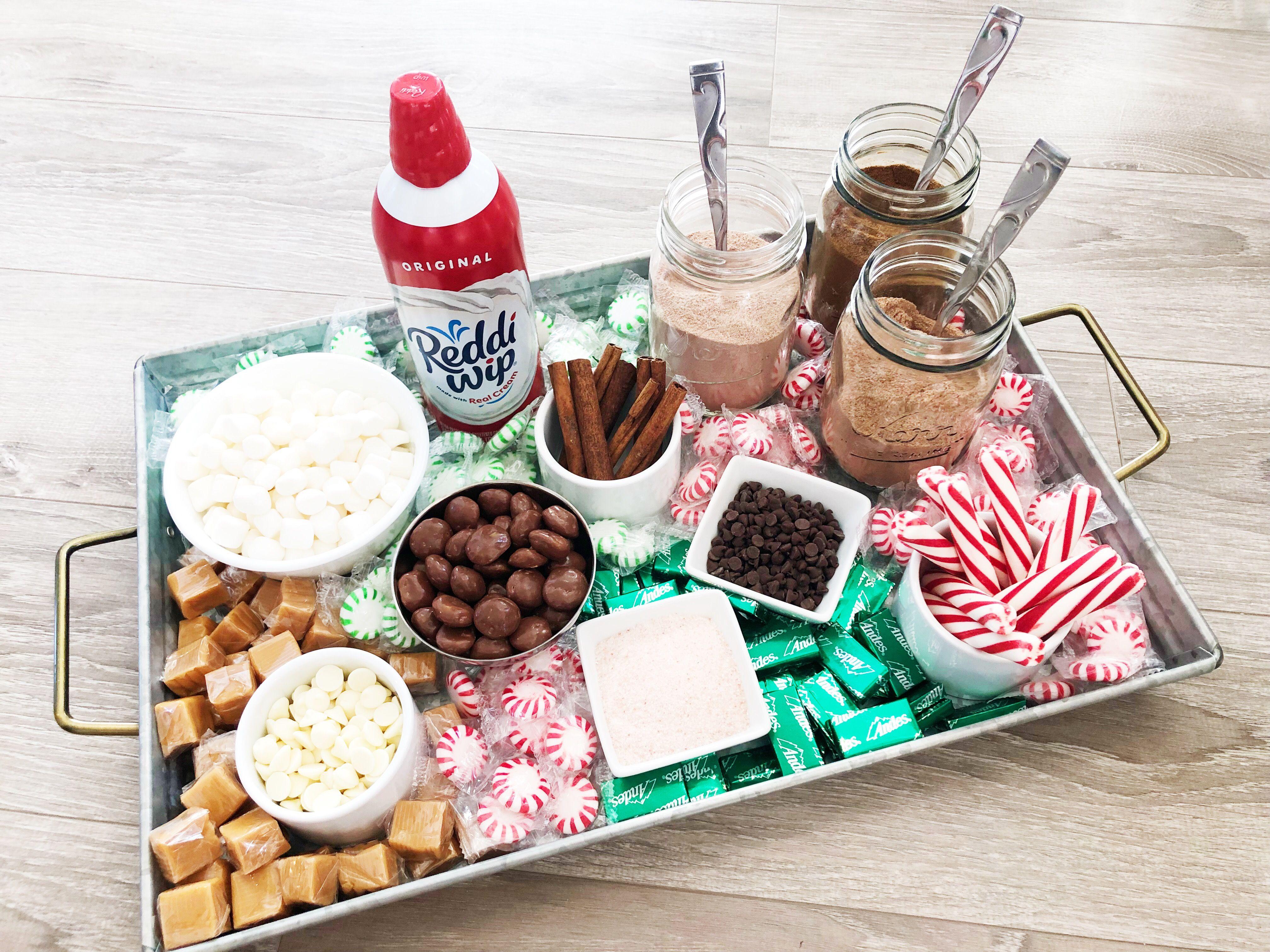 Easy Hot Chocolate Charcuterie Board