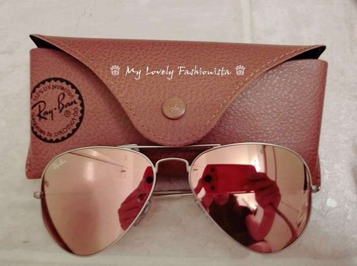 2a0911032b My Lovely Fashionista ♕: Ray-Ban 'Original Aviator' 58mm Sunglasses, Mirror  Lens, Brown Pink
