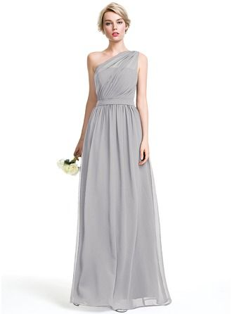 18e0d41a2a Advertisement  A-Line Princess One-Shoulder Floor-Length Chiffon Bridesmaid  Dress With Ruffle