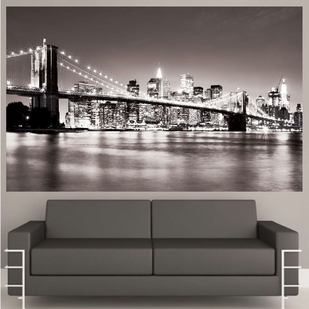 New York Decal Mural New York Wall Decal Nyc Cityscape New York