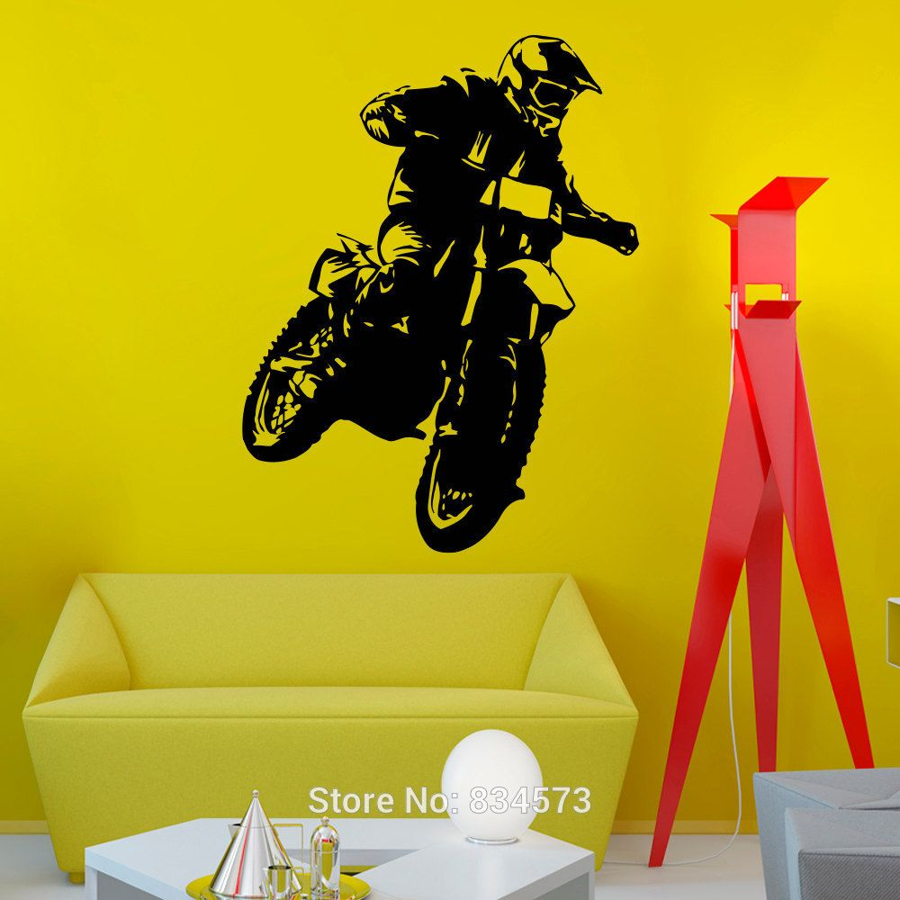 Motocross Motorcycle Moto Dirty Bike Wall Art Sticker Decal Home DIY ...