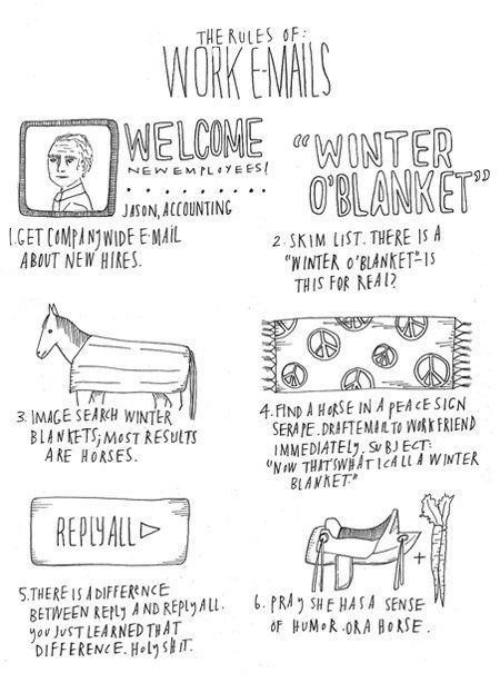 Email Etiquette But I M Not Getting The Equestrian Joke Work Email Funny Cartoons About Work Rules