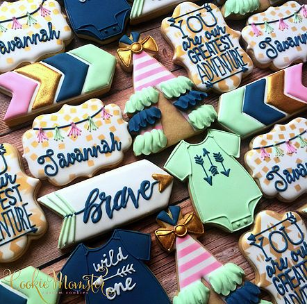 Cookie Momster by Hilary I Custom Cookies in Houston Baby Bining