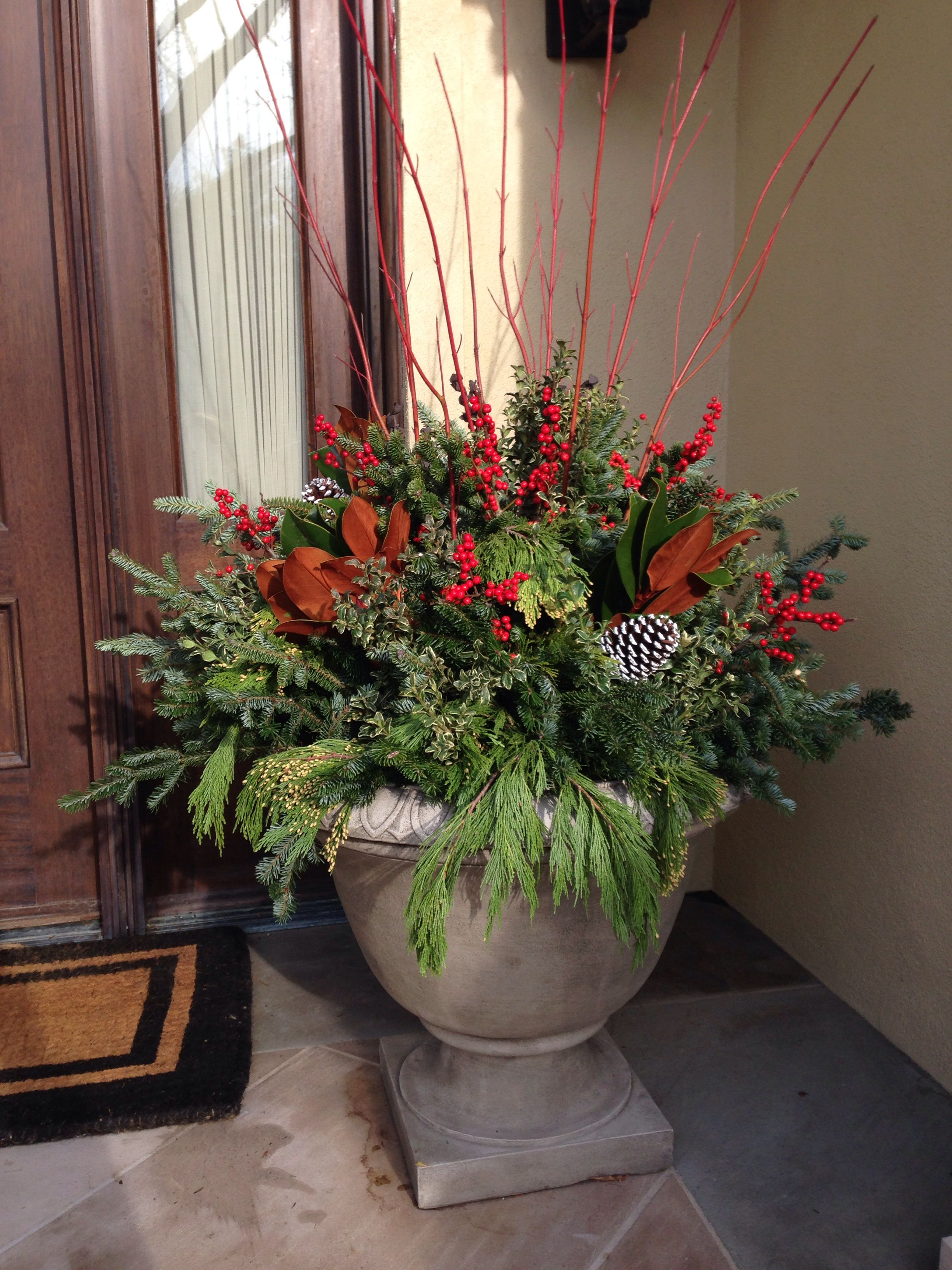 Classic Christmas Flower pots, Winter container