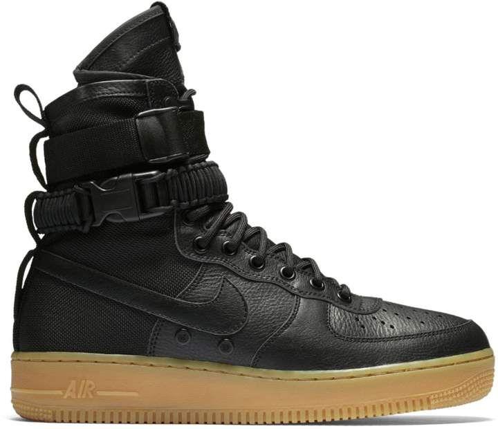 Nike Sf Air Force 1 Black Gum Black Gums Nike Rock Style Men