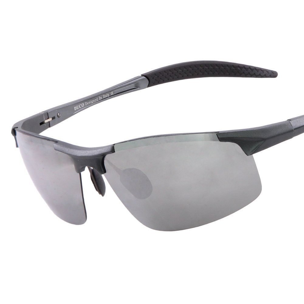 4478097ea2a Duco Men s Sports Style Polarized Sunglasses Driver Glasses 8177S (Black  Frame