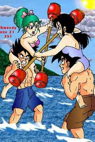 Goku and chi chi vs vegeta and bulma dbz pictures pinterest vegeta and bulma chi chi and vs - Goku e bulma a letto ...