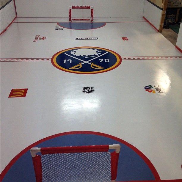 Sabres Mini Hockey Basement Arena From Matt D Mattdeben On Instagram Hockey Bedroom Hockey Room Hockey Decor