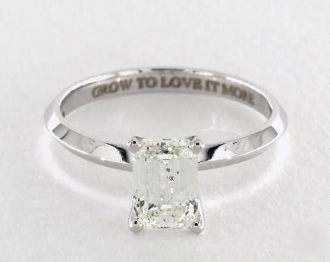 1 3ct Emerald Cut Solitaire Engagement Ring In White Gold See It