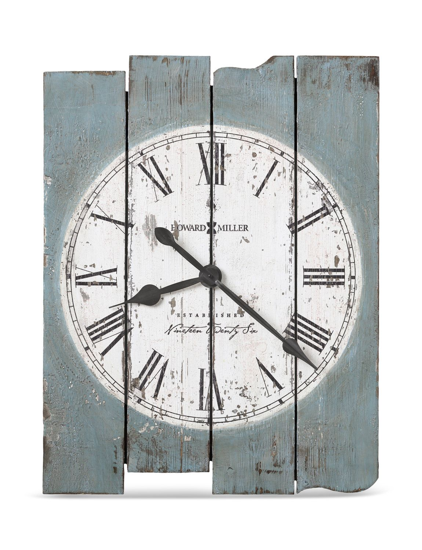 Mack Road Wall Clock By Howard Miller Hom Furniture Oversized Wall Clock Blue Wall Clocks Wall Clock Painting