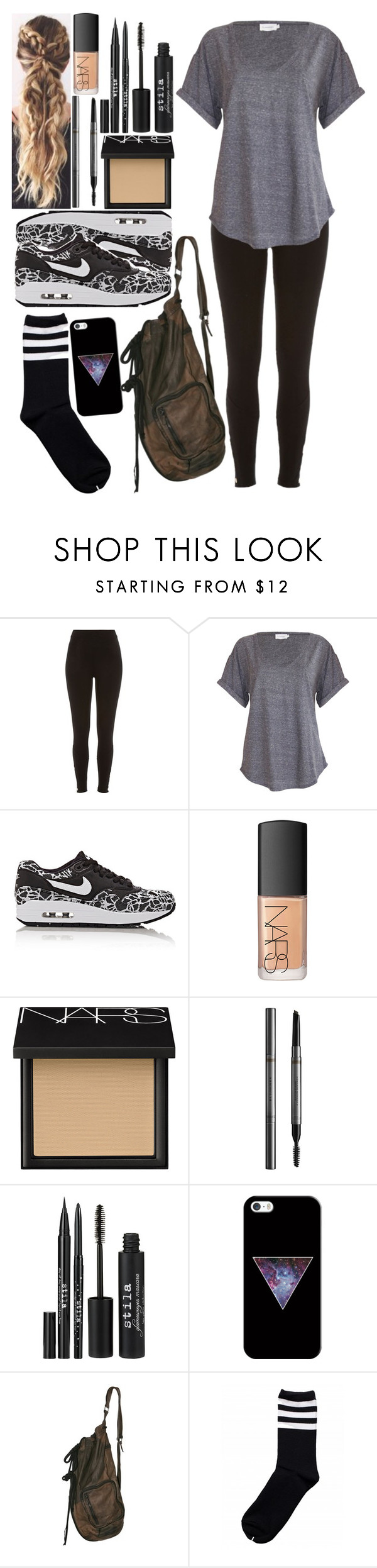 """I'm getting Pal's the rest of the world can't."" by me-is-a-pizza ❤ liked on Polyvore featuring River Island, NIKE, NARS Cosmetics, Burberry, Stila and Casetify"