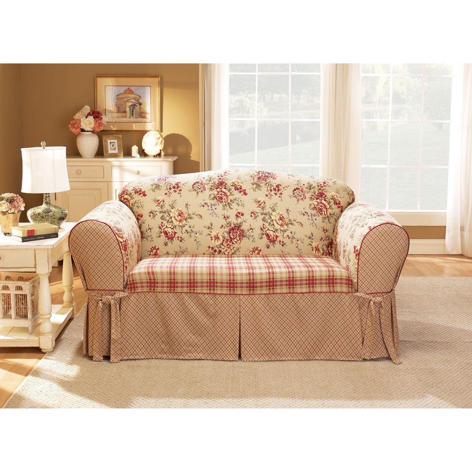 Peachy Sure Fit Lexington Cushion Sofa Slipcover Multi Colored In Ncnpc Chair Design For Home Ncnpcorg