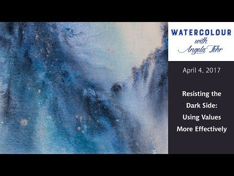 Live Watercolour Lesson With Angela Fehr Resisting The Dark Side Youtube Watercolor Lessons Watercolour Tutorials Watercolor