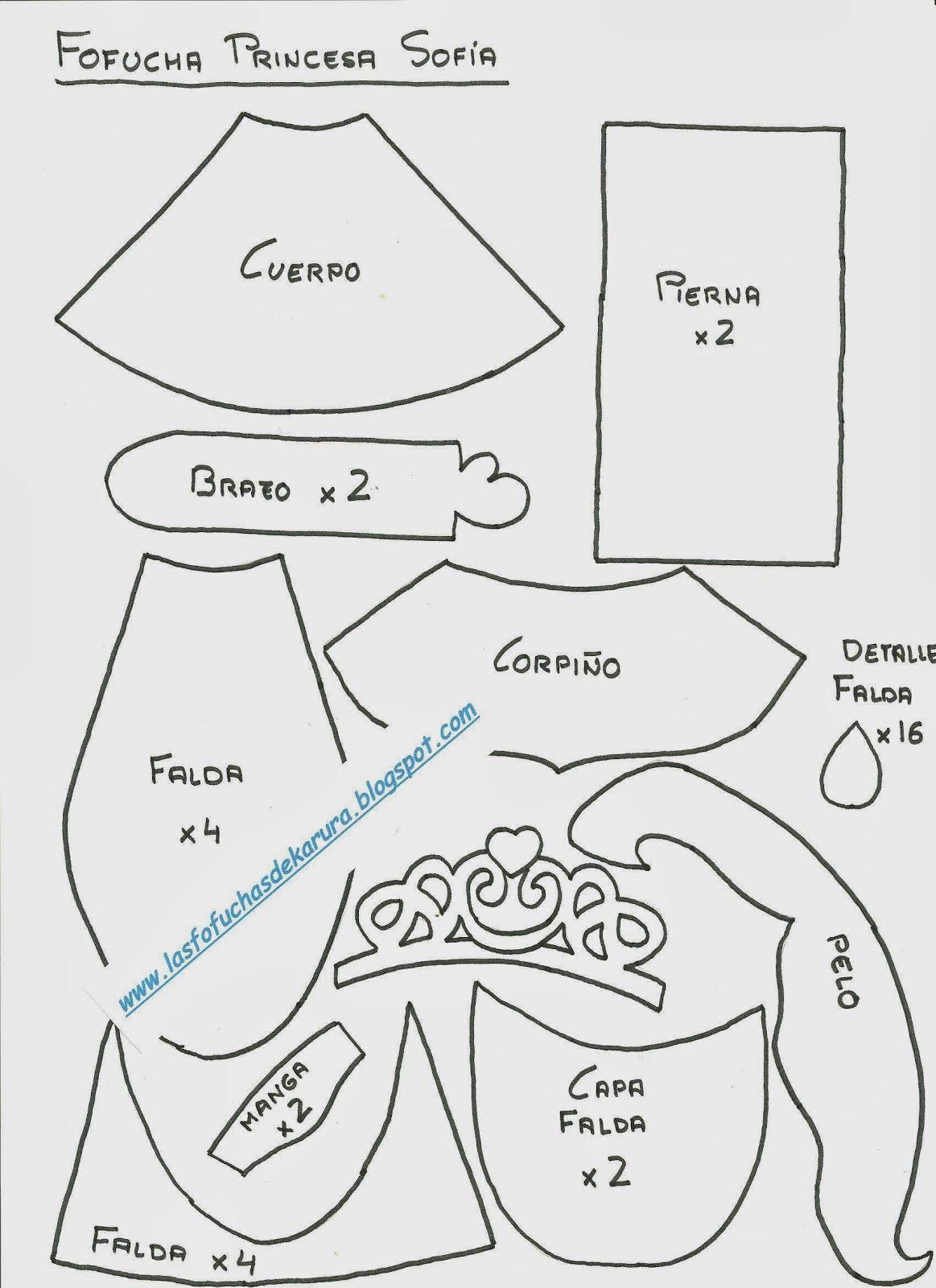 Las Fofuchas de Karura: Moldes Fofucha Rapunzel | Fofuchos ...