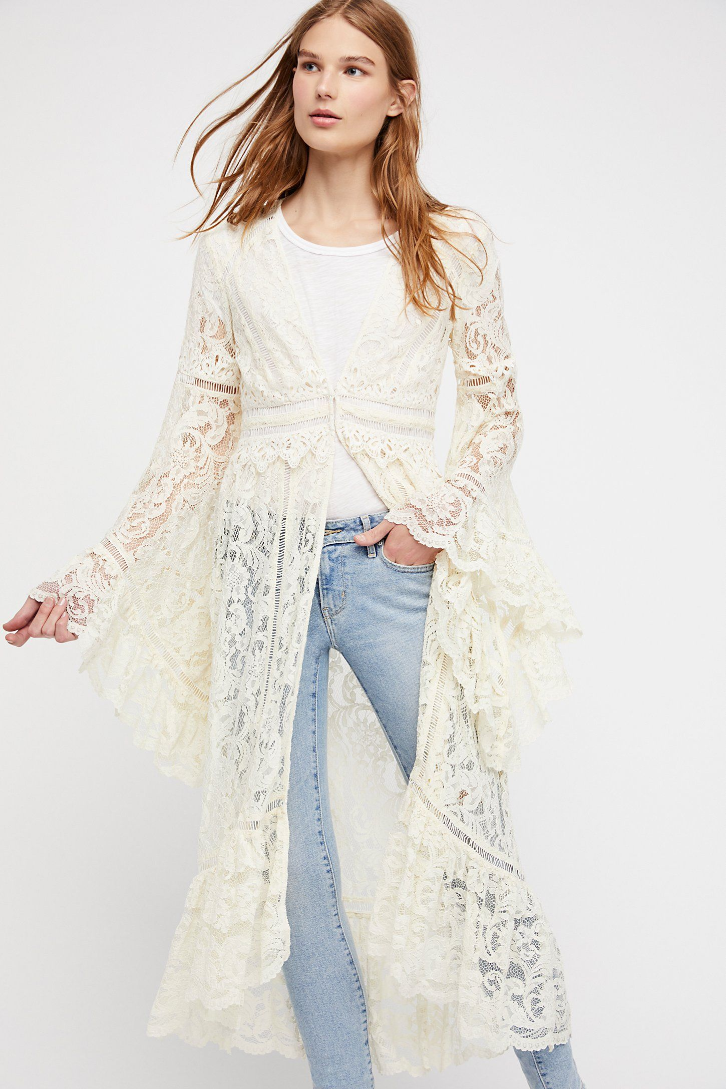 Shop our Rhiannon Lace Kimono at Free People.com. Share style pics ...