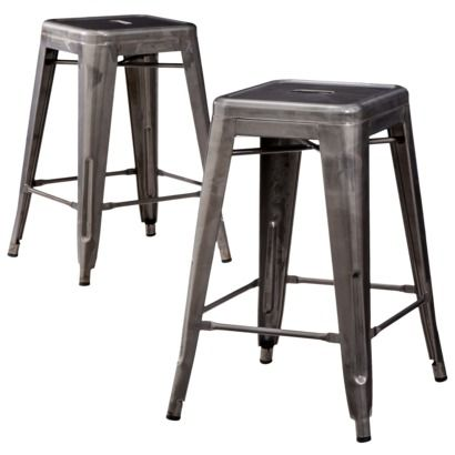 Excellent Carlisle Metal 29 5 Bar Stool Distressed Metal Set Of 2 Pabps2019 Chair Design Images Pabps2019Com