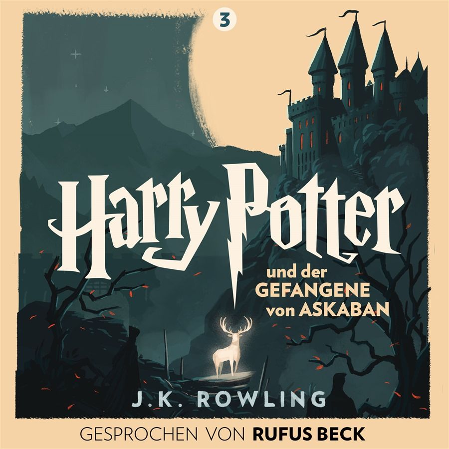Olly Moss brings iconic design, vibrant colour and classic imagery for these latest Harry Potter cover designs, commissioned by Pottermore and exclusive to the German audio books.