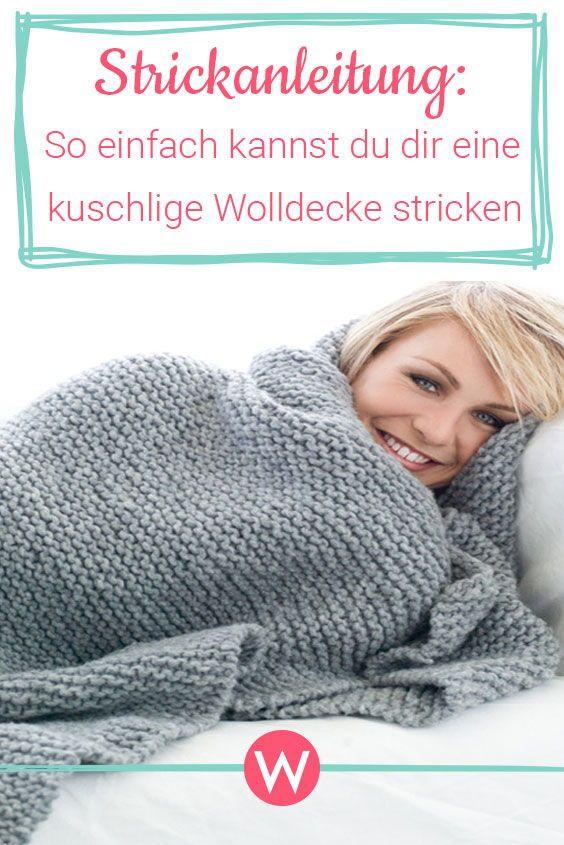 Photo of Strickanleitung für eine kuschelige Wolldecke | Wunderweib