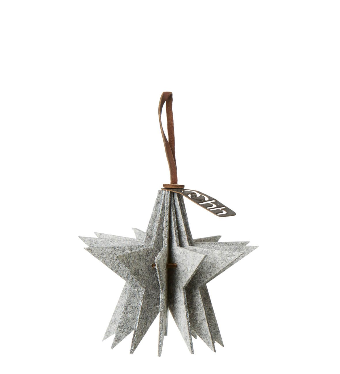 Hanging felt star white - OOhh