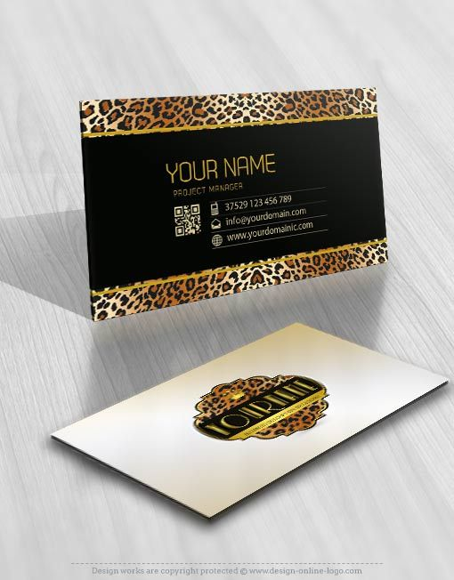 Exclusive design tiger skin logo compatible free business card tiger skin logo card design for sale reheart Images