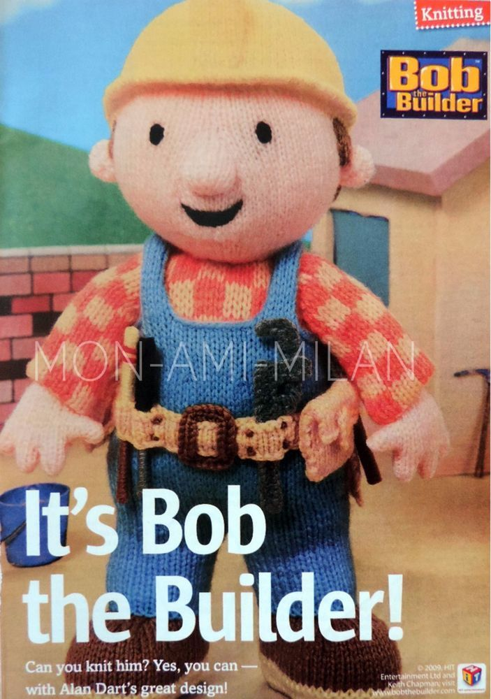 ALAN DART Knitting Pattern BOB THE BUILDER DOLL & JELI DELI CHEEKY ...