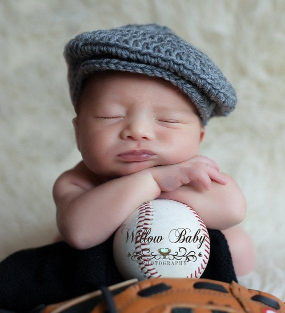 READY Baby Hat - Baby Boy Hat - Baby Newsboy Hat - Grey - Just too Cute -  More Colors Available bd0440eb76d