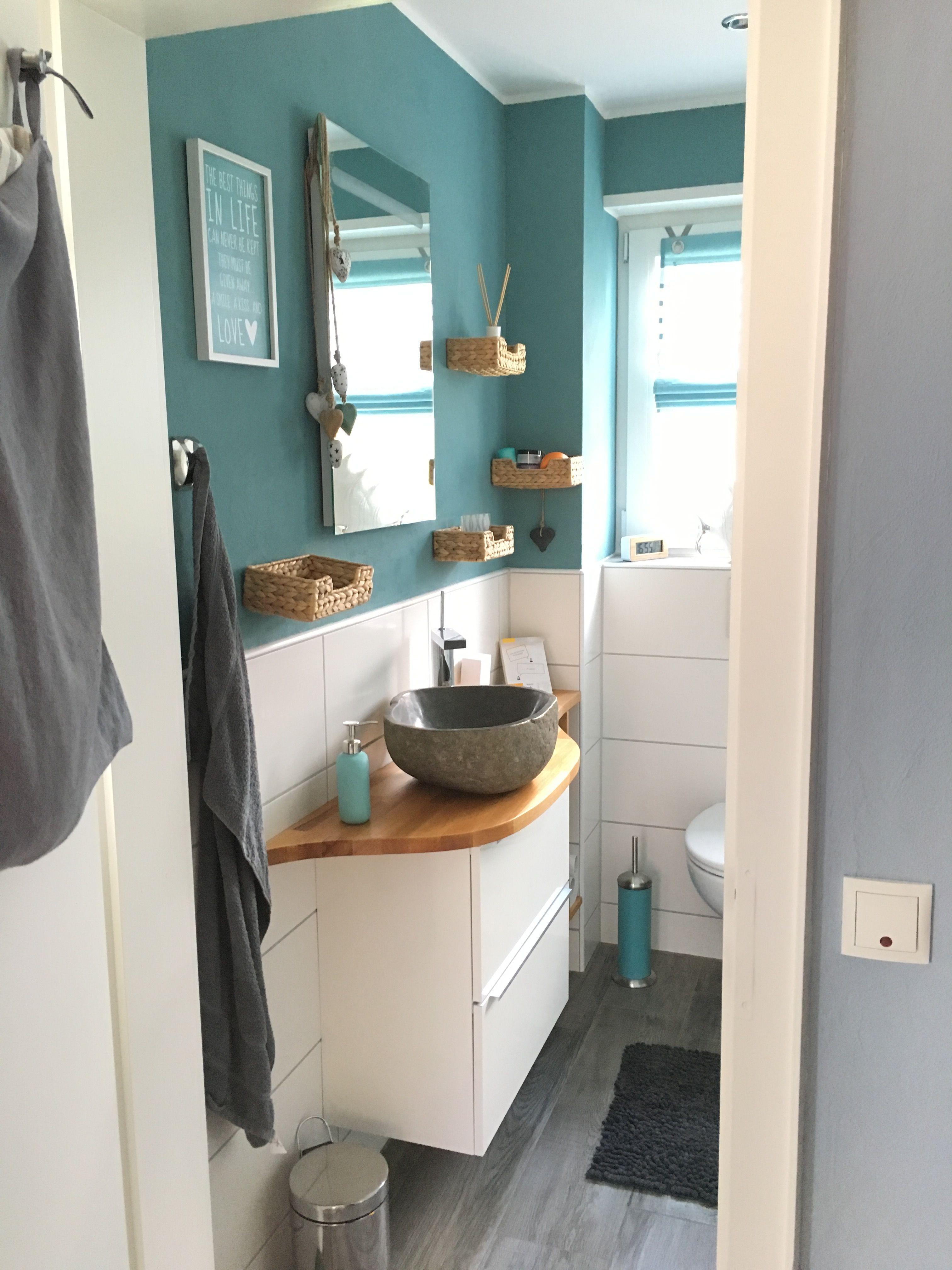 Kleines Bad Mit Diy Waschtisch Aus Ikea Godmorgon Unterschrank