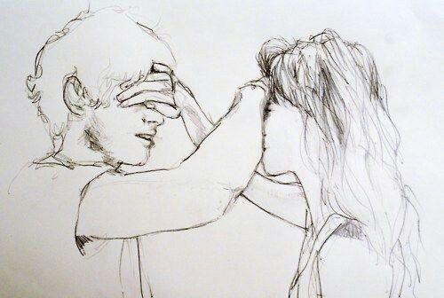 Line Art Couple : Imagem através do we heart it art couple couples drawing