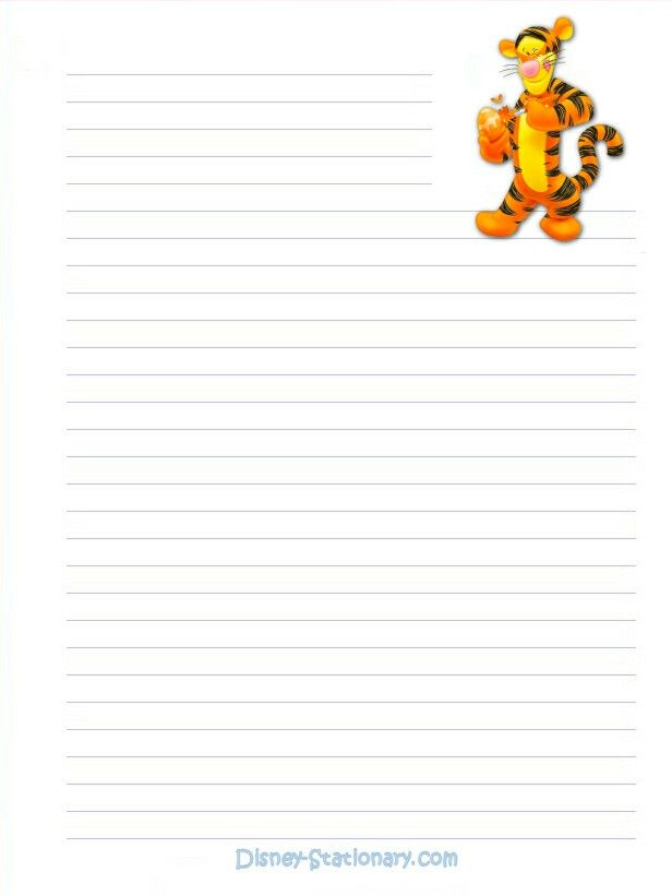Pin by beautifully broken on Winnie the Pooh Stationary Printable - lined paper background for word