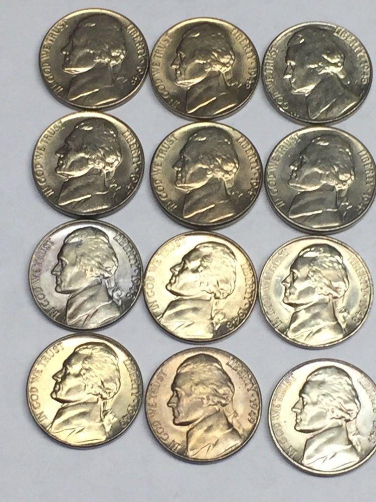 ROLL OBW 1 CH//GEM BU 1948-S JEFFERSON NICKEL FROM ORIGINAL Bank Wrapped