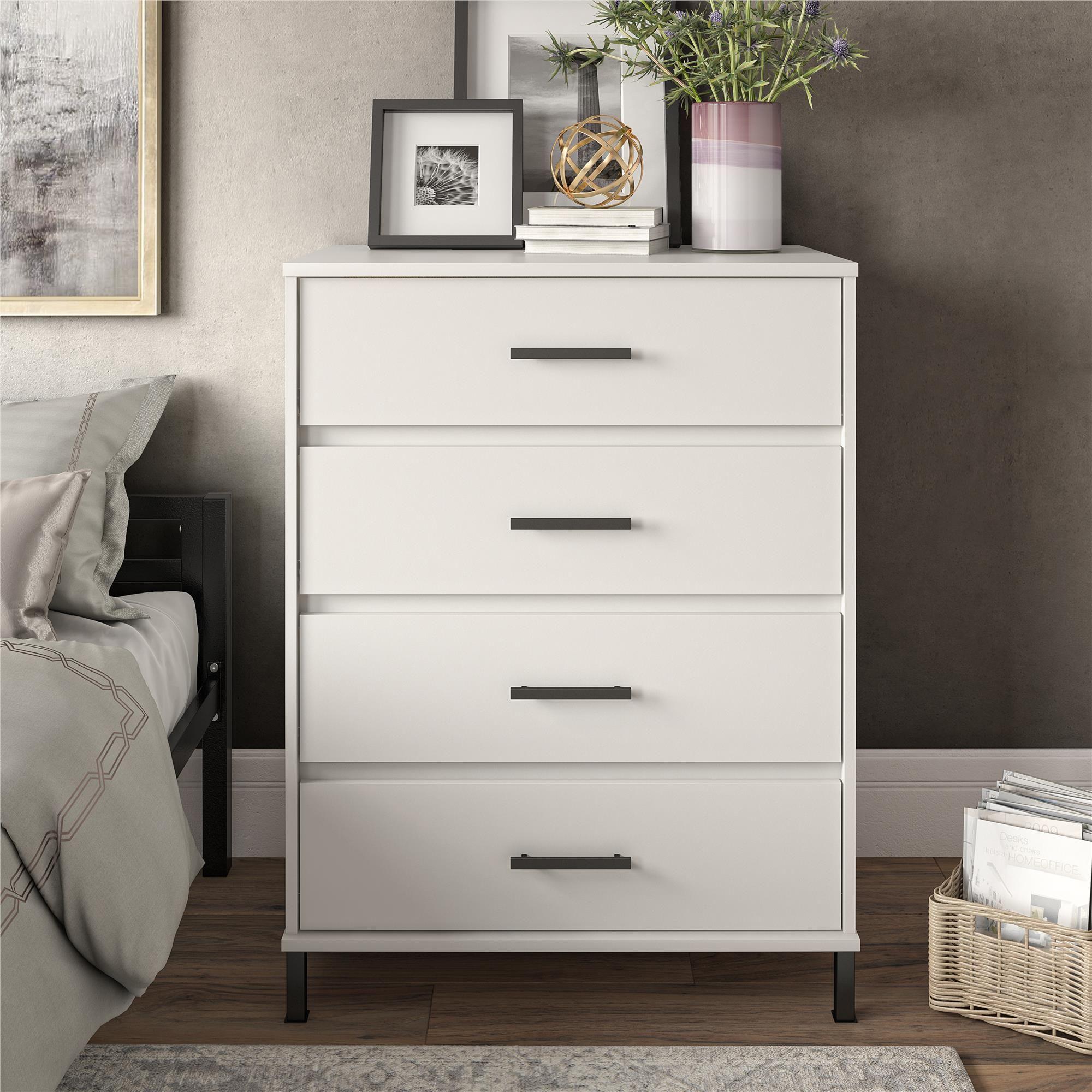 Your Zone 4 Drawer Dresser White Walmart Com 4 Drawer Dresser Dresser As Nightstand Kids Room Furniture [ 2000 x 2000 Pixel ]